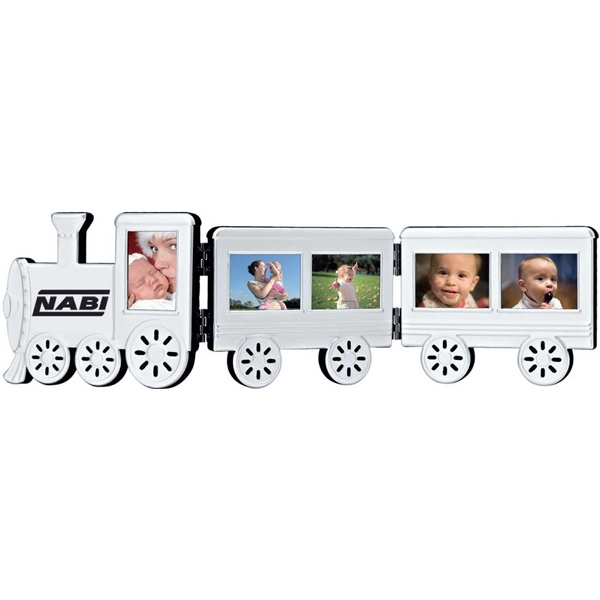 Personalized Foldable aluminum train photo frame
