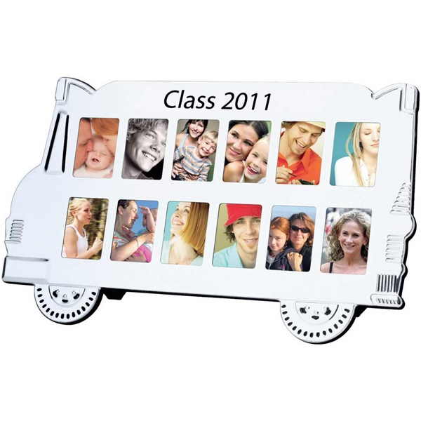 Printed School bus photo frame