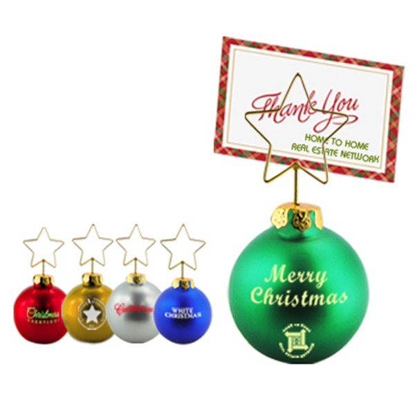 Personalized X-Mas ornament memo clip