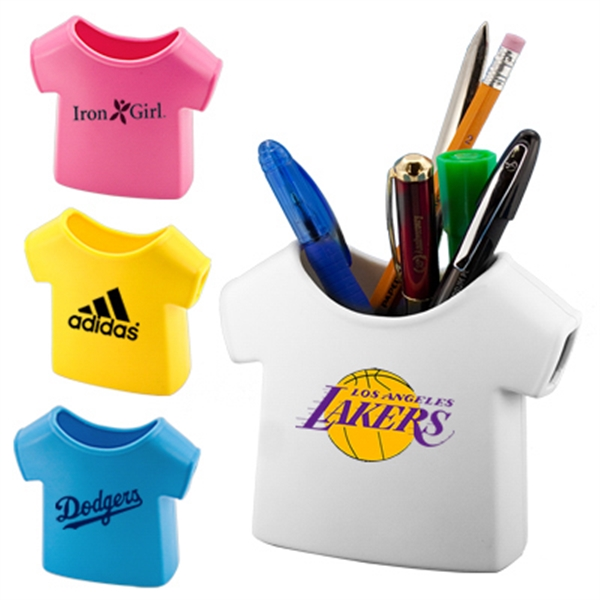 Imprinted T shirt pen holder
