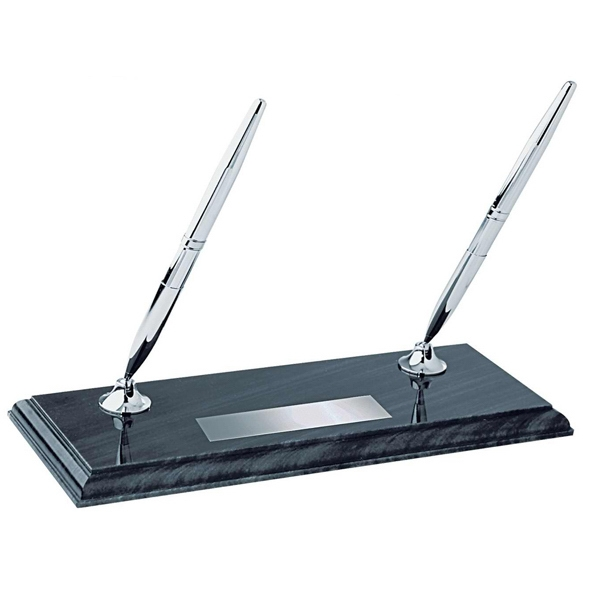 Personalized Marble pen stand with two pens