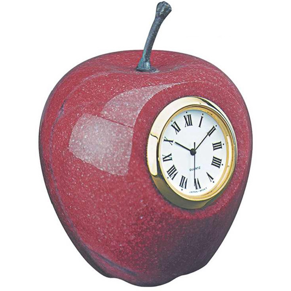 Printed Marble apple clock