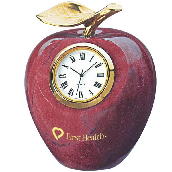 Imprinted Marble apple clock