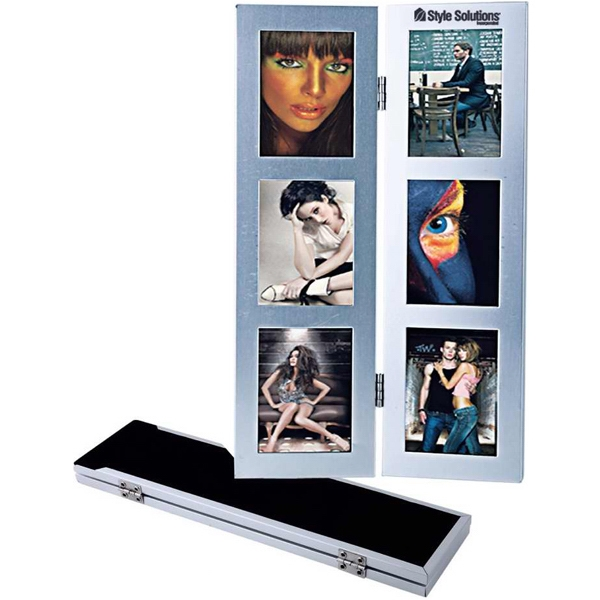 Promotional Two-fold six-photo metal frame
