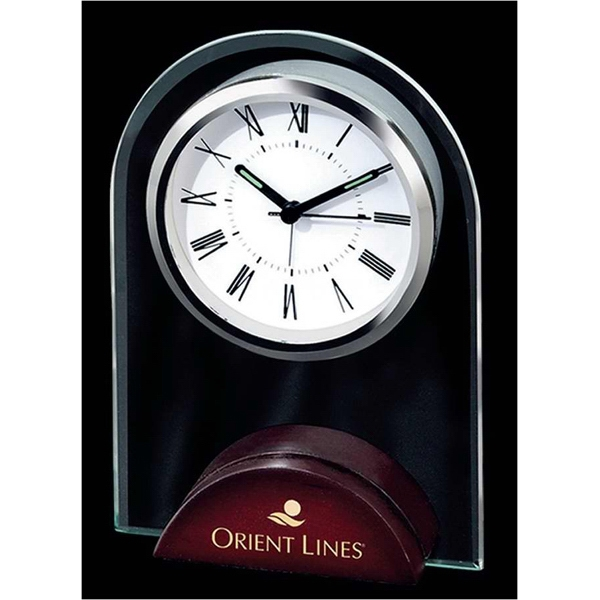 Imprinted Arch shape alarm clock