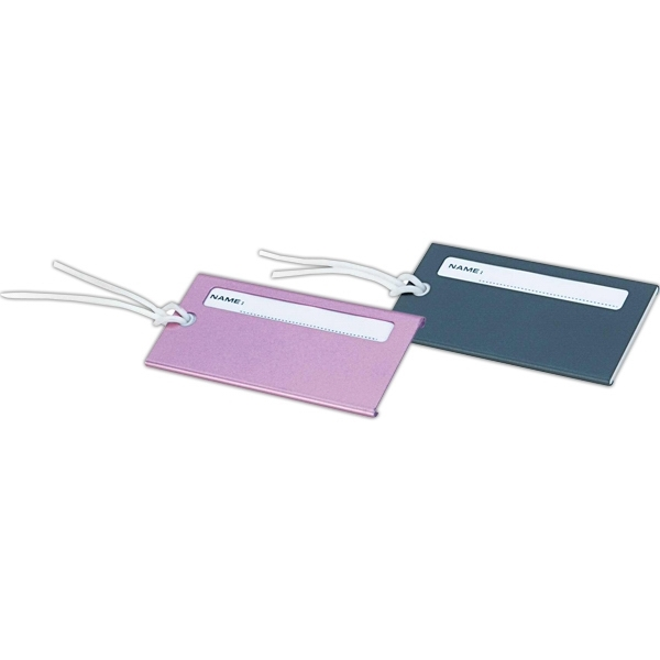 Imprinted Metal luggage tag