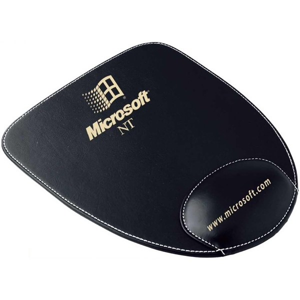 Customized PU mouse pad with wrist cushion (U shape)