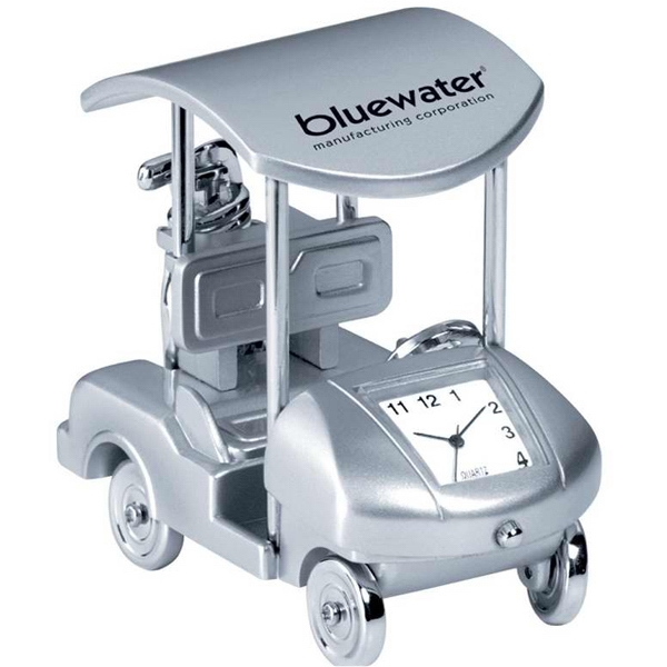Personalized Metal golf cart clock