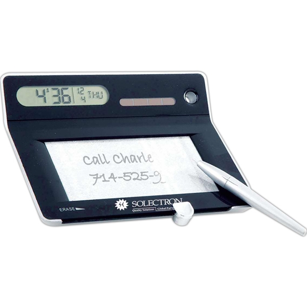 Personalized Solar alarm clock with erasable memo board