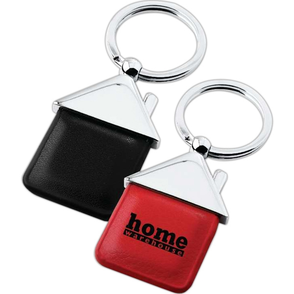 Printed House shape keychain