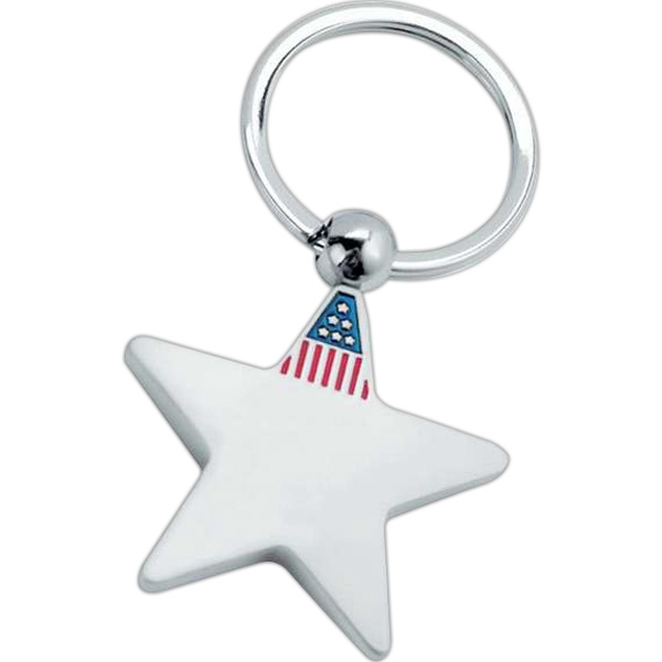 Custom Metal star key tag
