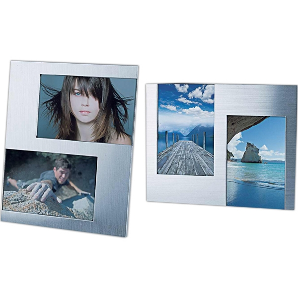 Customized Two-photo metal frame (vertical or horizontal)