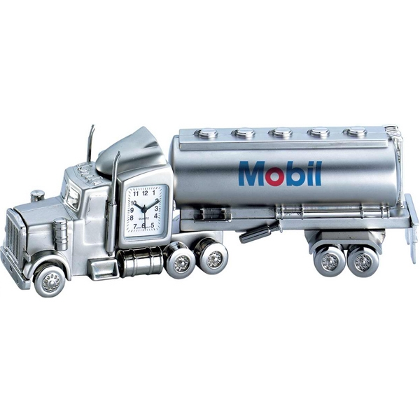 Promotional Metal oil tanker clock
