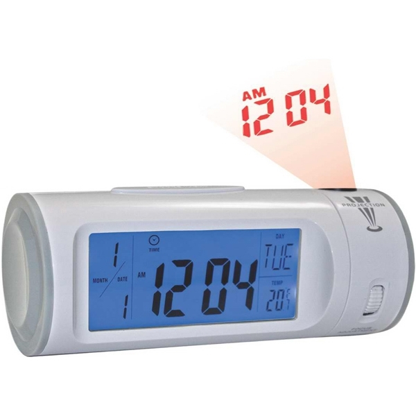 Printed Alarm clock with el light and projector