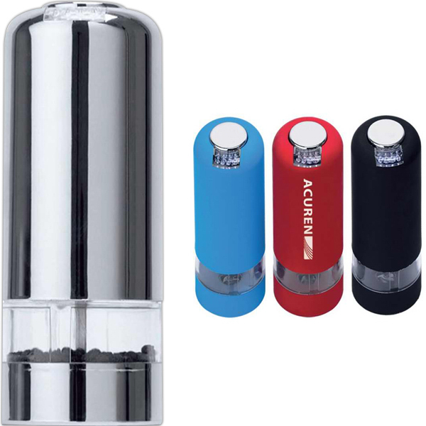 Customized Mini electric pepper mill with light