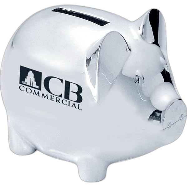 Customized Silver plated piggy bank