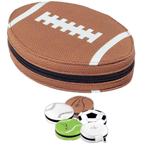 Imprinted Sports ball CD holder