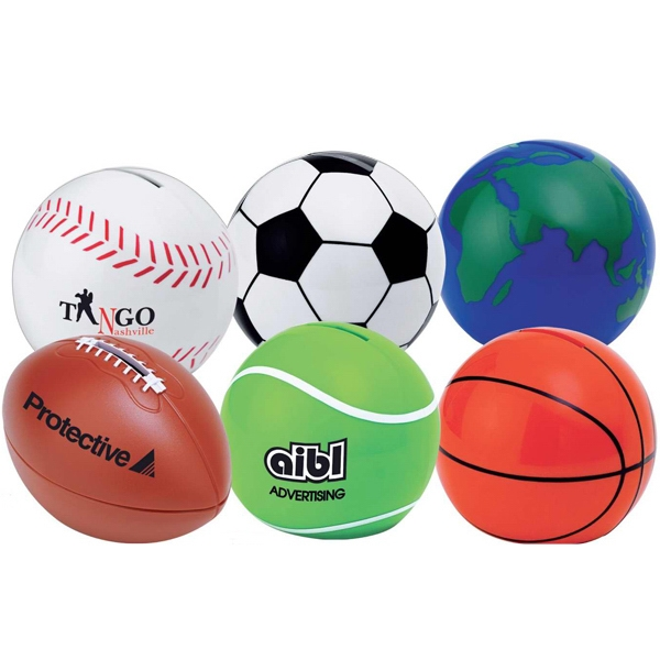 Printed Sport ball coin bank