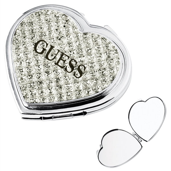 Printed Jewelry heart compact mirror