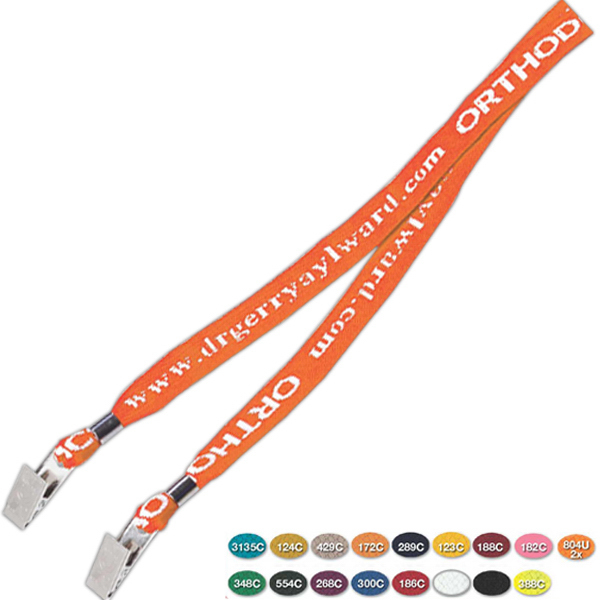 Promotional 2 Bulldog Knit-In Lanyard