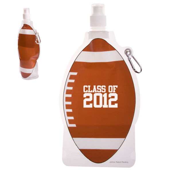 Imprinted HydroPouch!(TM) 22 oz. Football Collapsible Water Bottle