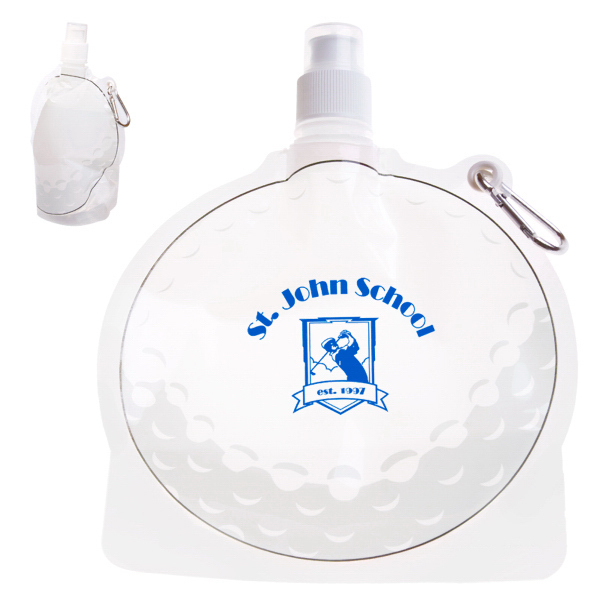 Promotional HydroPouch! 24 oz. Golf Ball Collapsible Water Bottle