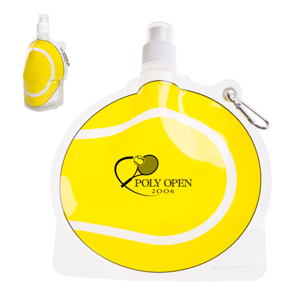 Printed HydroPouch! 24 oz. Tennis Ball Collapsible Water Bottle