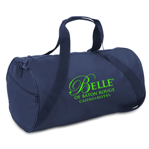 Personalized Barrel Duffel Bag