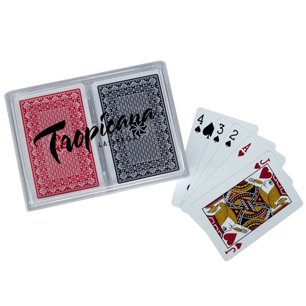 Custom 100% Plastic Playing Card in Imprinted Plastic Box