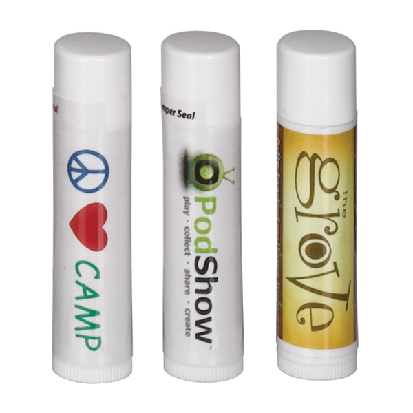Promotional SPF 30 Soy Lip Balm in White Tube