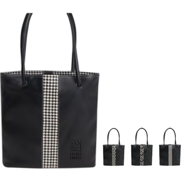 Printed Lamis Tote with Fashion Accents