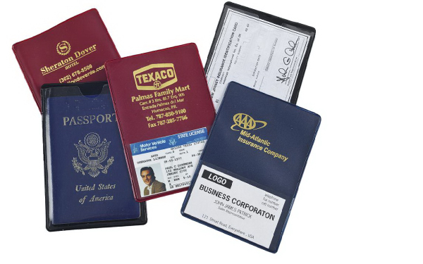 Imprinted Travel Mate Auto ID / Passport Case