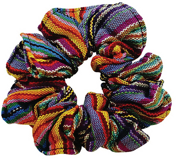 Printed Guatemalan Scrunchies with Custom Labels
