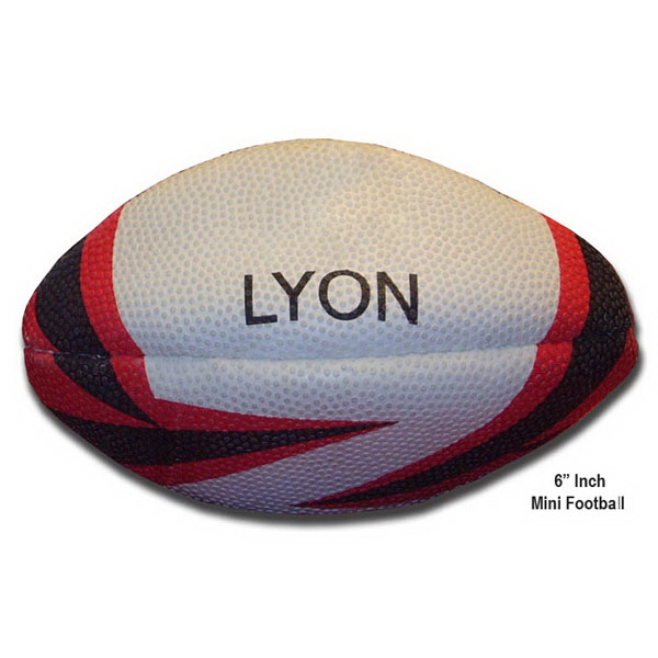 "Custom Mini Rubber ""Gripper"" Football"