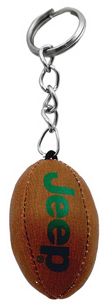 Personalized Soft Football Keychain