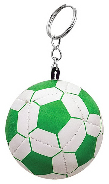 Printed Soft Soccer Ball Keychain