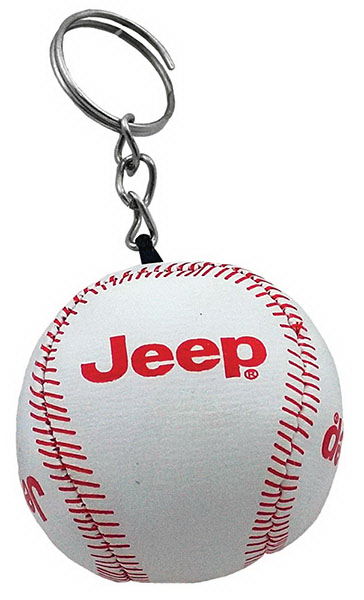Customized Soft Baseball Keychain