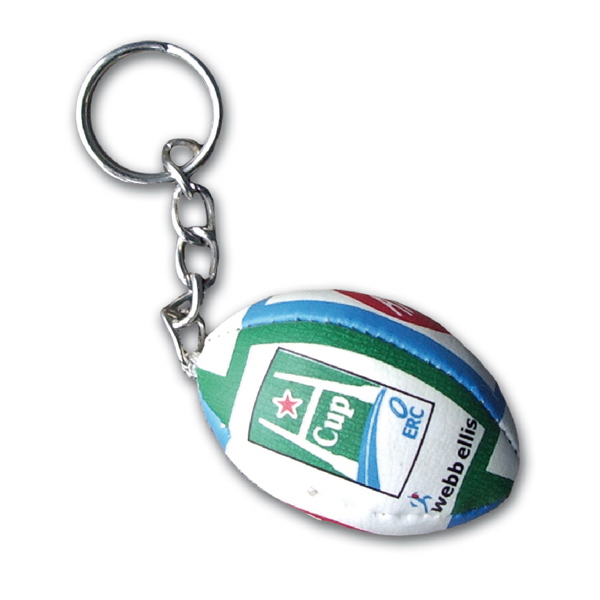 Personalized Soft Rugby Ball Keychain
