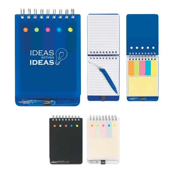 Printed Spiral Jotter With Sticky Notes, Flags & Pen