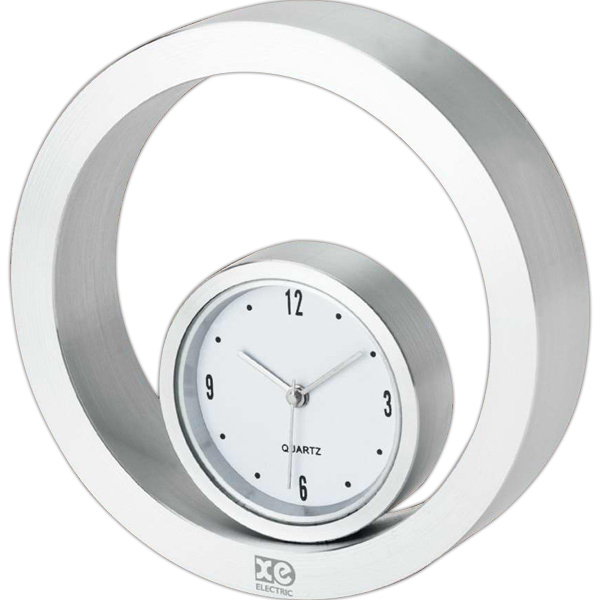 Personalized Rolling metal desk clock