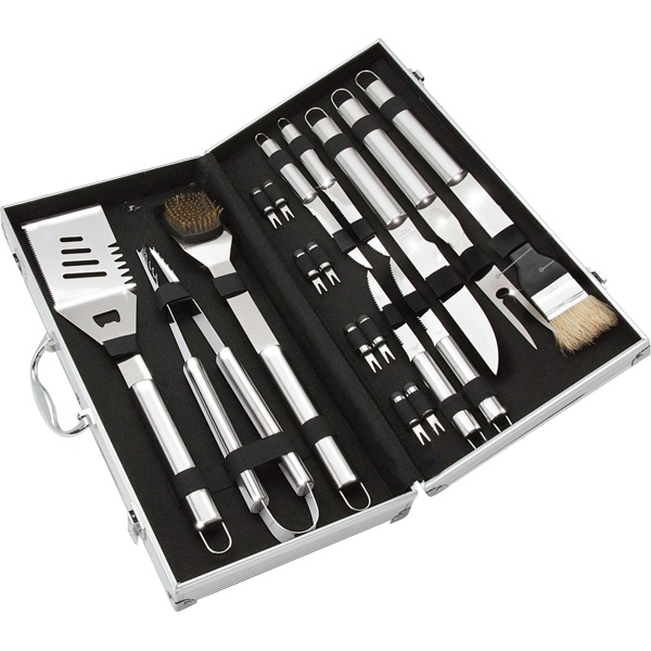 Promotional 18 piece stainless steel  BBQ set