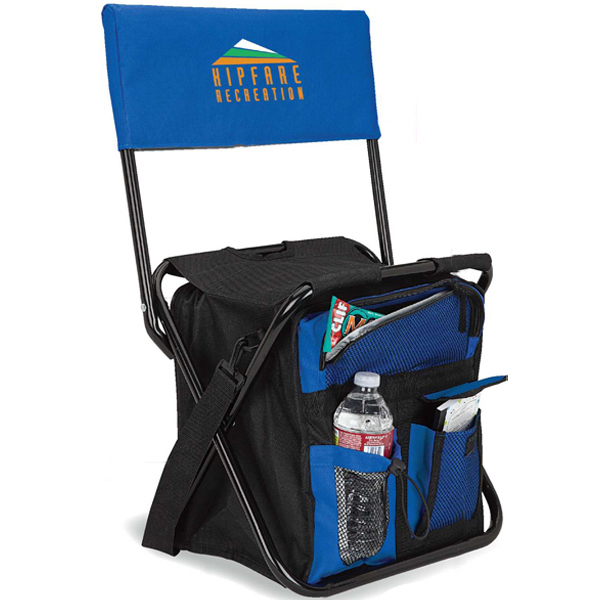 Personalized 24-can folding cooler chair with back rest