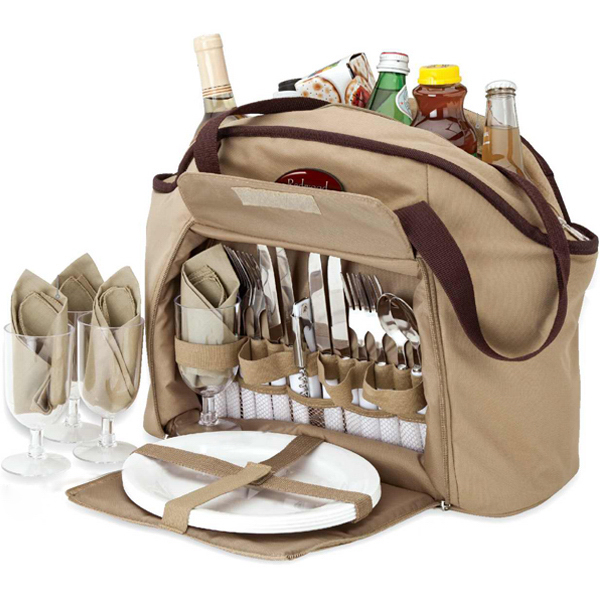 Customized 4 person picnic carry set
