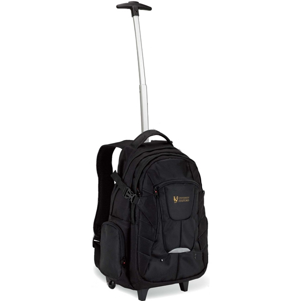 Personalized Executive rolling backpack