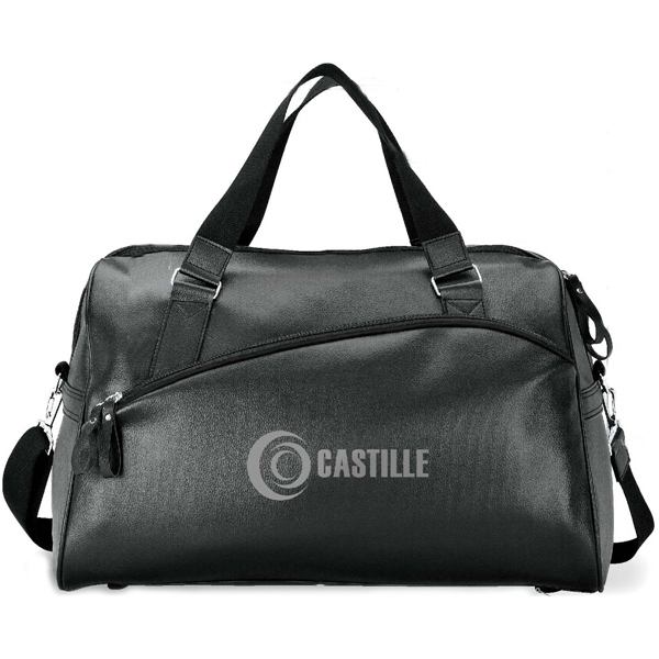Personalized Soft lichee executive travel duffel