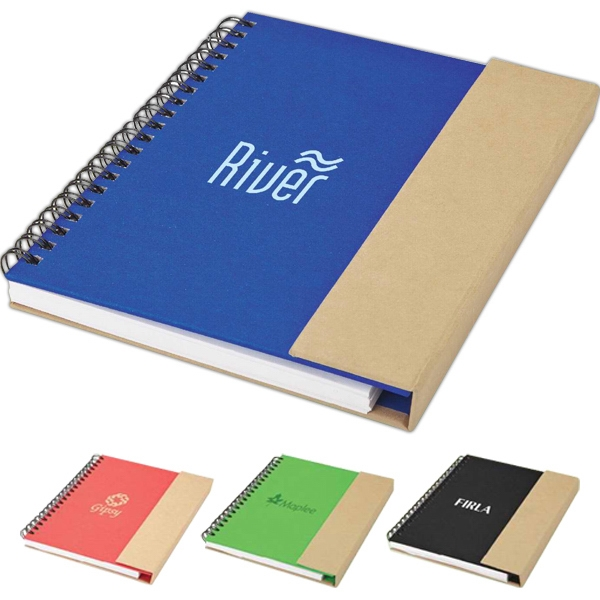 Personalized Recycled notebook and pen