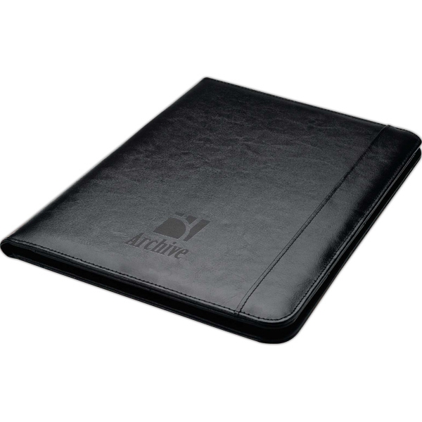 Printed 40 page bonded leather folder