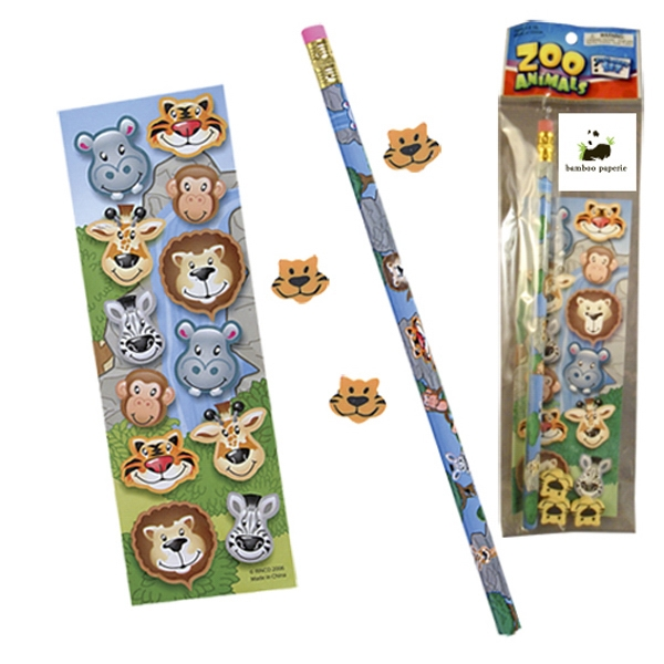 Printed Stationery Set - Zoo Animals