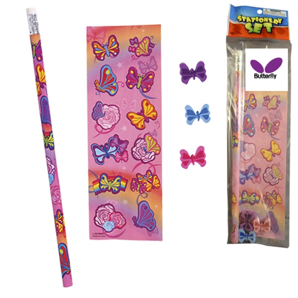 Printed Stationery Set - Butterfly