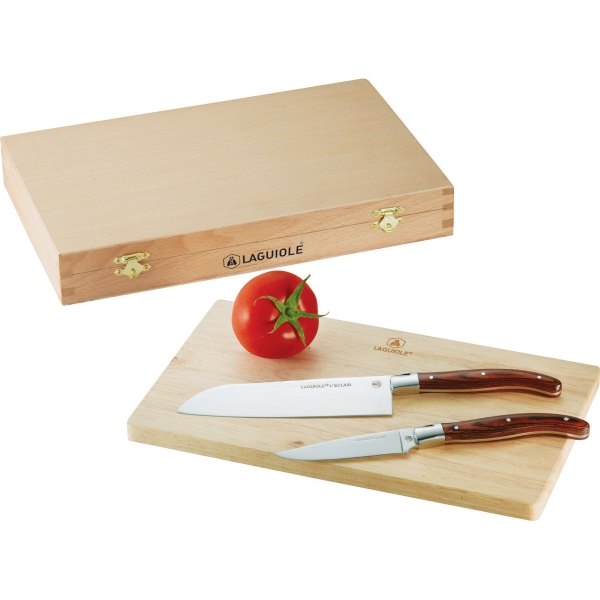 Custom Laguiole (R) cutting board set
